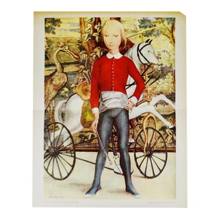 "Tsuguharu Foujita ""Little Cavalier"" Mid-Century Print For Sale"