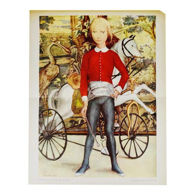 "Tsuguharu Foujita ""Little Cavalier"" Mid-Century Print For Sale"