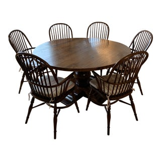 Farmhouse Dining Table & Chairs For Sale