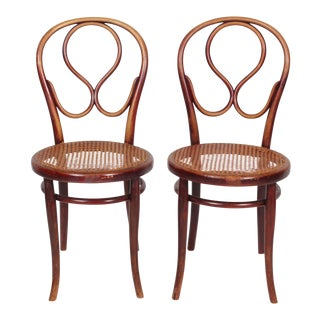 1920s Thonet Labeled Bentwood Chairs- A Pair