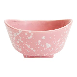 Mid Century Pink Splatterware Planter For Sale