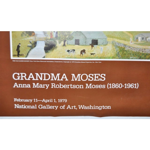 """Vintage """"Grandma Moses"""" Exhibition Poster National Gallery of Art, Washington, DC 1979 For Sale - Image 5 of 8"""