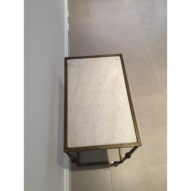 HD Buttercup Marble Top Side Table - Image 3 of 6
