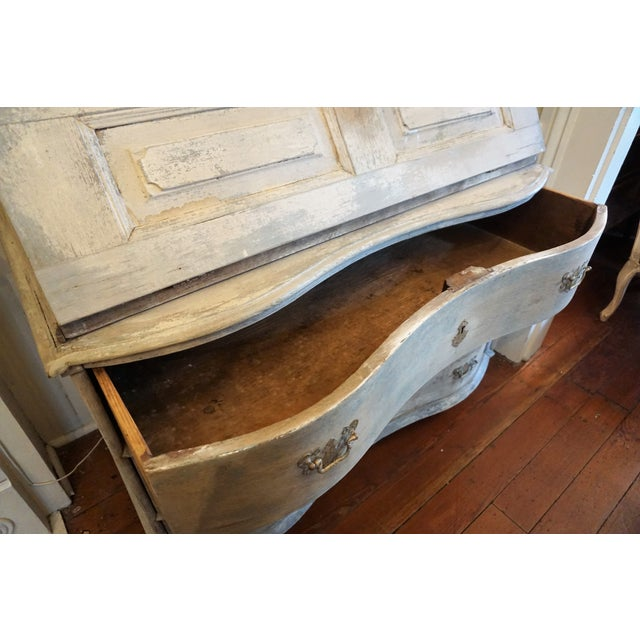 Swedish Gustavian Painted Secretaire For Sale - Image 9 of 12