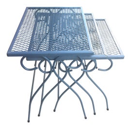 Image of Blue Nesting Tables