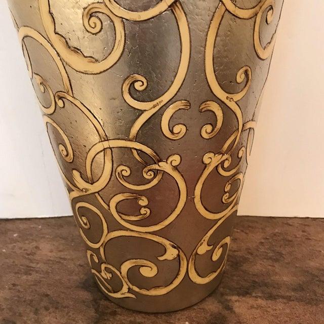 Italian Scroll Designed Vase For Sale - Image 3 of 4