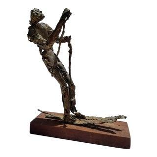 1970s Brutalist Art Torch Copper Table Sculpture For Sale