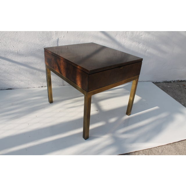 Mid-Century Modern Tomlinson Burlwood End Table For Sale - Image 3 of 11