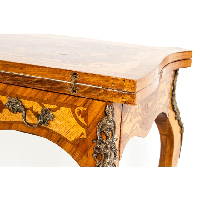 Metal Kingwood / Mounted Bronze Details Card Table For Sale - Image 7 of 13
