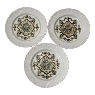 Ralph Lauren Whipstitch Salad Plates - Set of 3 For Sale