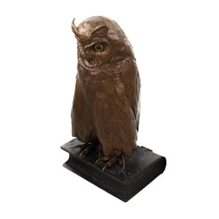 Vienna Cold Painted Bronze Owl Sculpture For Sale