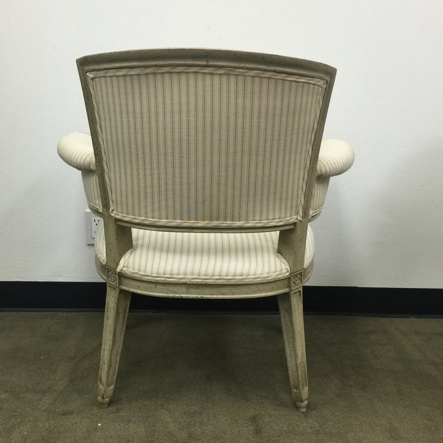 Antique Flare Arm Chairs in Rose Tarlow Fabric - A Pair - Image 4 of 8