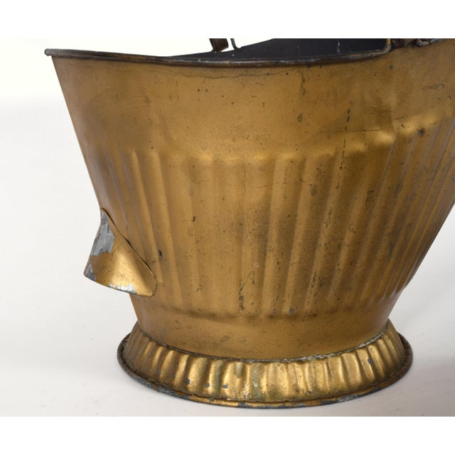 Mid-20th Century Coal Scuttle Fireplace Bucket and Scooper For Sale - Image 4 of 10