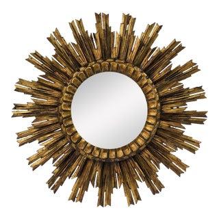 French Gilt Starburst or Sunburst Mirror (Diameter 24) For Sale