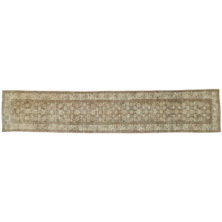 Early 20th Century Antique Persian Malayer Design Runner - 2′6″ × 12′11″ For Sale