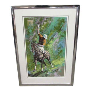 Signed Polo Motif Lithograph Print For Sale