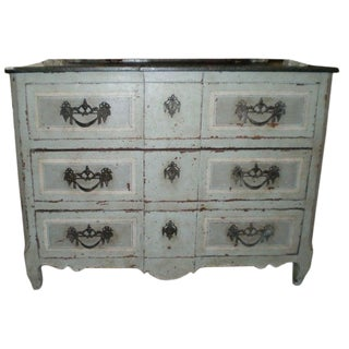 18th Century French Louis XV Three Drawer Commode For Sale