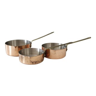 Vintage Copper & Brass Nesting Measuring Cups - Set of 3
