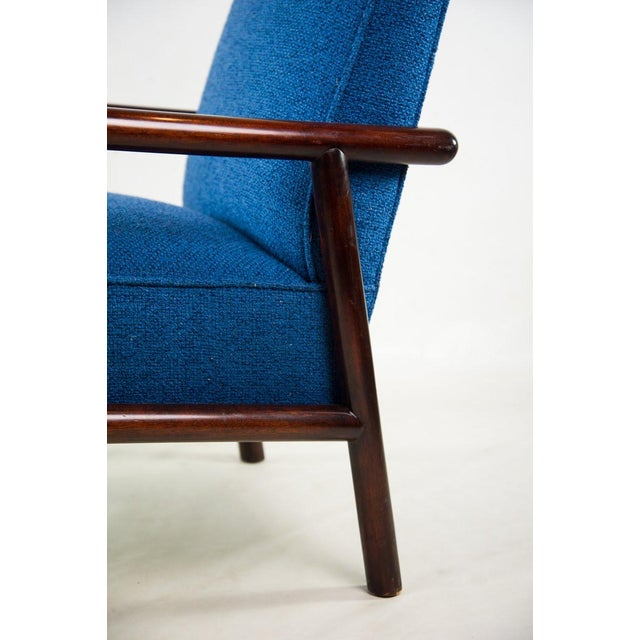 1950s Jens Risom for Knoll Mid-Century Modern Blue Lounge Chair For Sale - Image 5 of 13