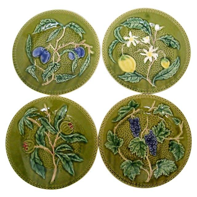 Portuguese Porcelain Fruit Plates - Set of 4 - Image 1 of 4