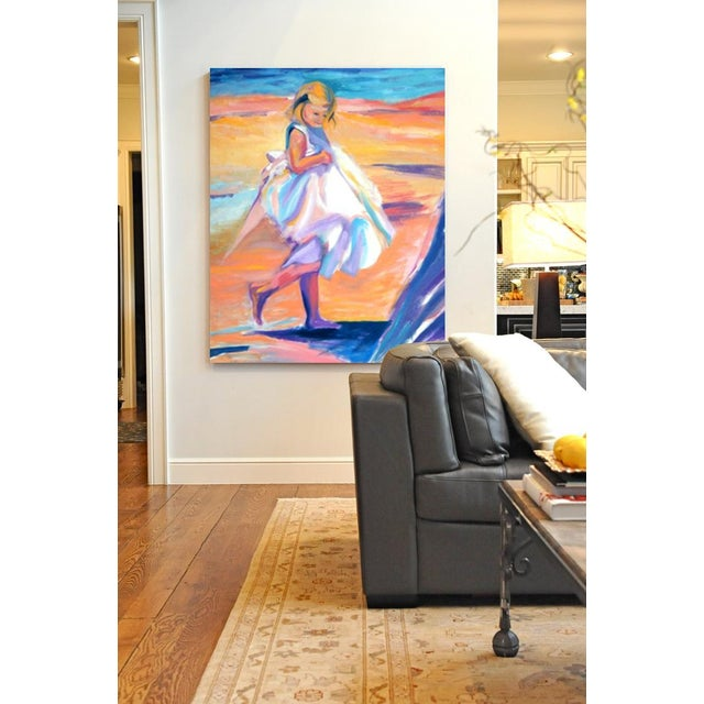 This is a museum quality fine art giclee print on custom stretched canvas from an original painting by Kandi Cota. Canvas...