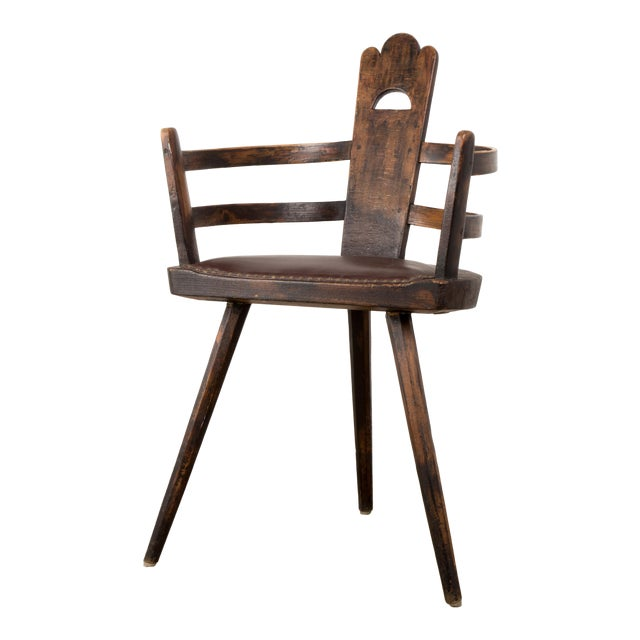 1930s Vintage Three Legged Antique French Chair - 1930s Vintage Three Legged Antique French Chair Chairish