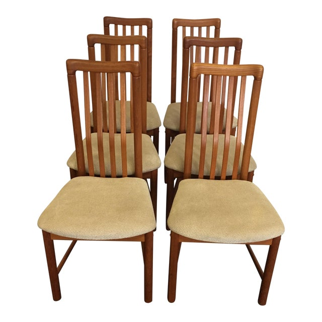 Teak Chairs by Benny Linden - Set of 6 - Image 1 of 11
