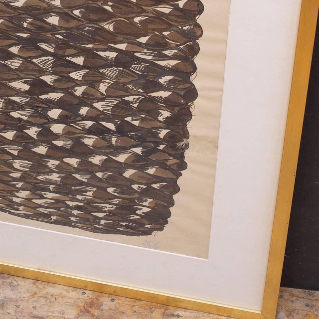 Mid-Century Modern Monumental Axel Salto Large Budding Vase Watercolor on Paper Vintage, Midcentury For Sale - Image 3 of 4