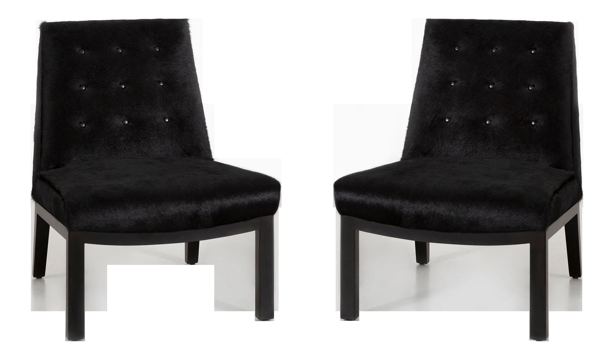 Set Of Edward Wormley For Dunbar Slipper Chairs In Brazilian Cowhide