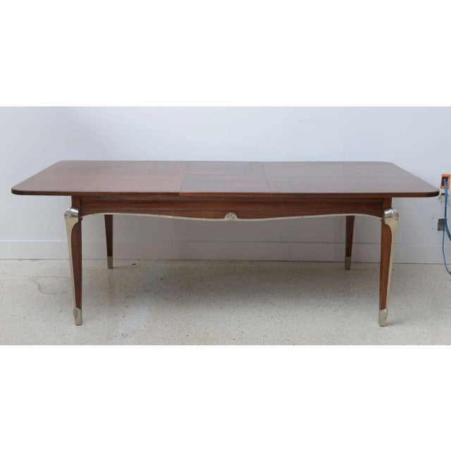 Gold Late Art Deco Palisander Extension Dining Table by Jean Pascaud For Sale - Image 8 of 8