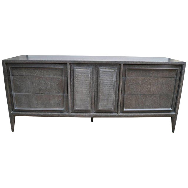Century Furniture of Distinction Gray Finish Credenza For Sale