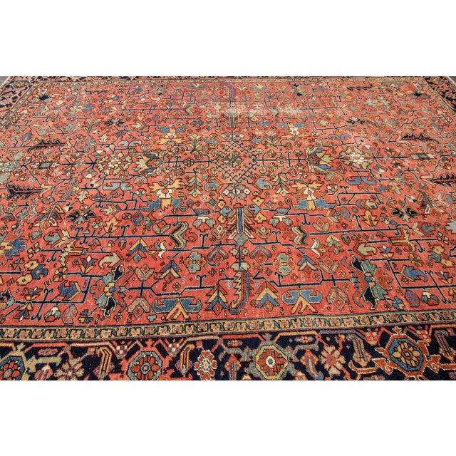 """Apadana - Vintage Persian Heriz Rug, 9'4"""" x 12'5"""" - Image 5 of 7"""