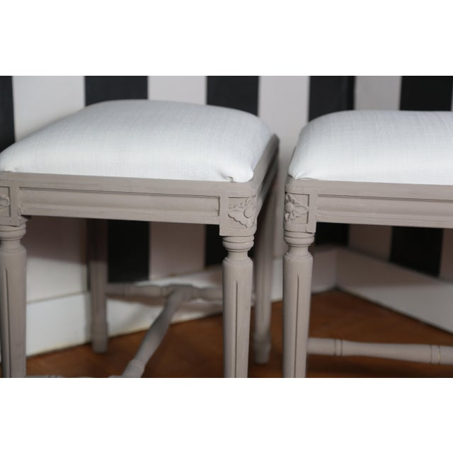 Pair of Swedish Gustavian Foot Stools, 19th Century For Sale - Image 4 of 7