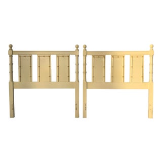 1960s Vintage Regency Style Twin Faux Bamboo Headboards - a Pair For Sale