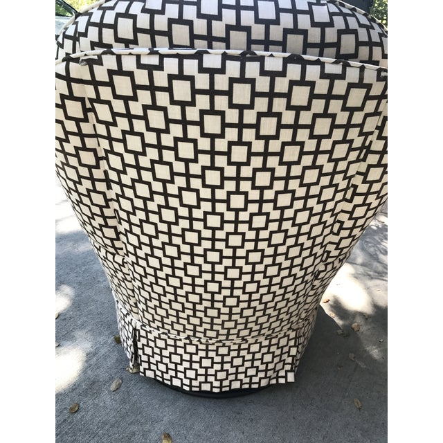 Geometric Pattern Upholstered Rocking Chair - Image 4 of 6
