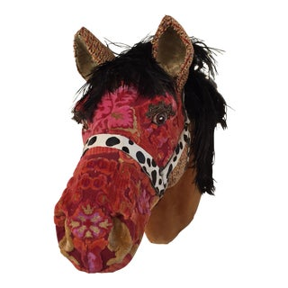 Antique Fabric Horse Head For Sale