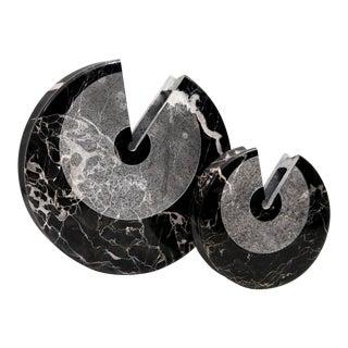 """""""Eccentrico"""" Black Marble Vases by Egidio Di Rosa & PA Giusti for Up & Up, 1972 For Sale"""