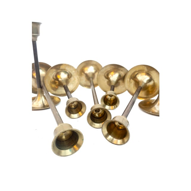 """Vintage Brass Candlestick Holders 