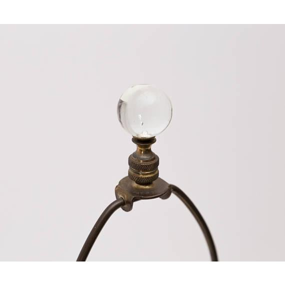 Antique Cut Glass Lamp With Glass Ball Finial For Sale - Image 4 of 5