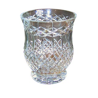 Irish Cavan Crystal Large Centerpiece Vase – Rare Pattern For Sale