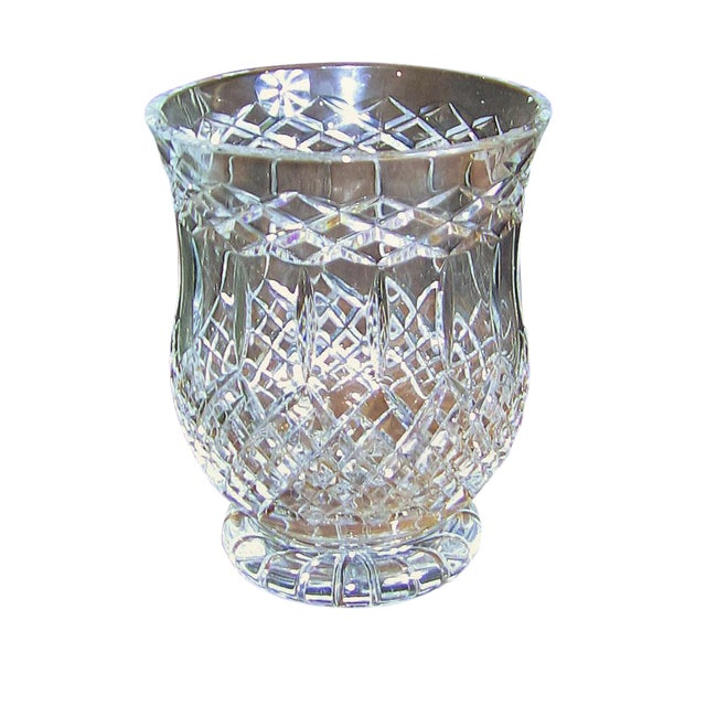 World Class Irish Cavan Crystal Large Centerpiece Vase Rare