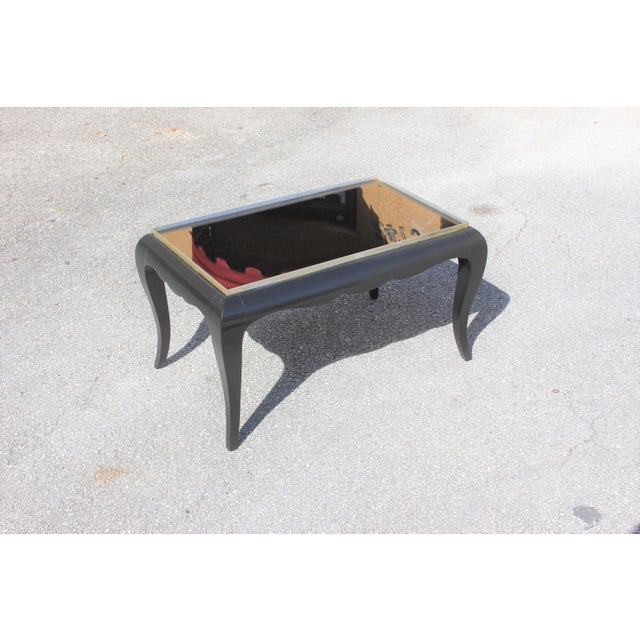 1940s French Art Deco Ebonized Coffee Table For Sale - Image 10 of 13