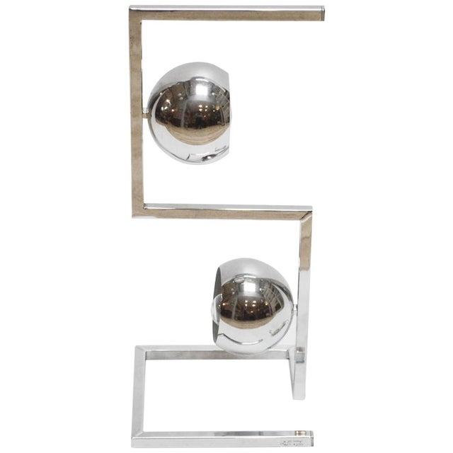 Mid-Century Modern Chrome Eyeball Lamp - Image 1 of 8