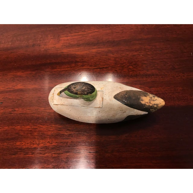 Cabin 1980s Hand Carved and Hand Painted Wood Duck Decoy Signed For Sale - Image 3 of 5