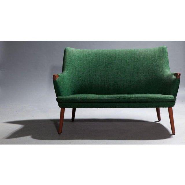 A.P. Stolen Hans Wegner Ap 20 Sofa, Original Fabric, Denmark, 1950s-1960s For Sale - Image 4 of 6