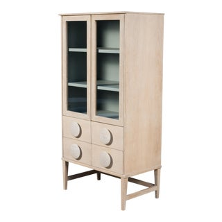 Sarreid Two Drawer Tall Bookcase For Sale