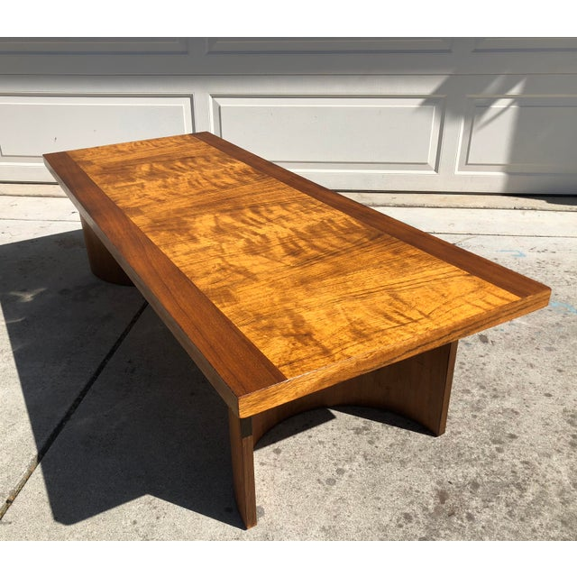 Mid-Century Modern Kroehler Mid-Century Modern Bentwood Base Coffee Table For Sale - Image 3 of 11