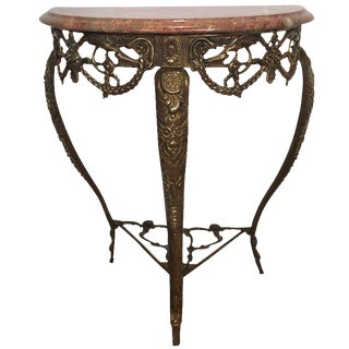 20th Century Aesthetic Movement Rouge Marble Top Console Table For Sale