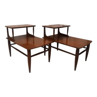 1960s Mid Century Modern Mersman Tiered Side Tables - a Pair For Sale