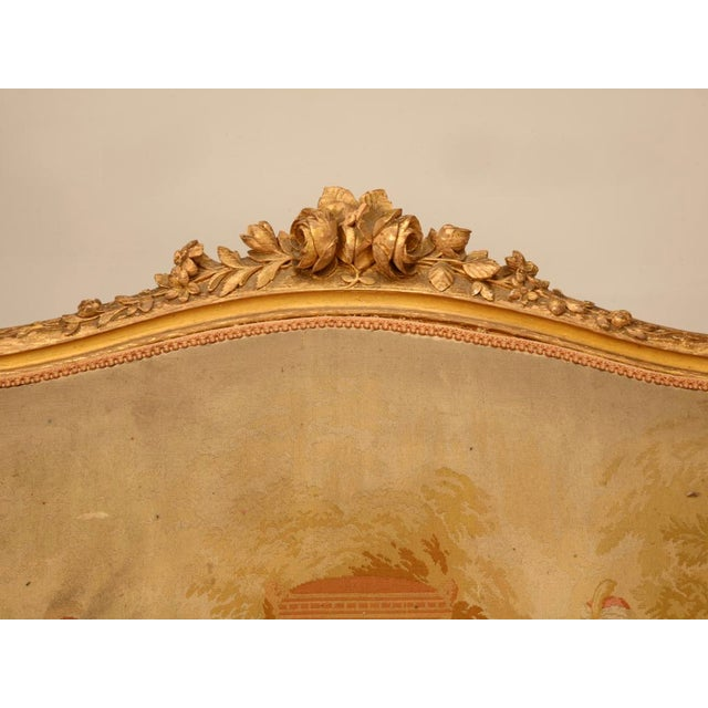 Antique French Gilded Louis XV Style Settee - Image 5 of 10
